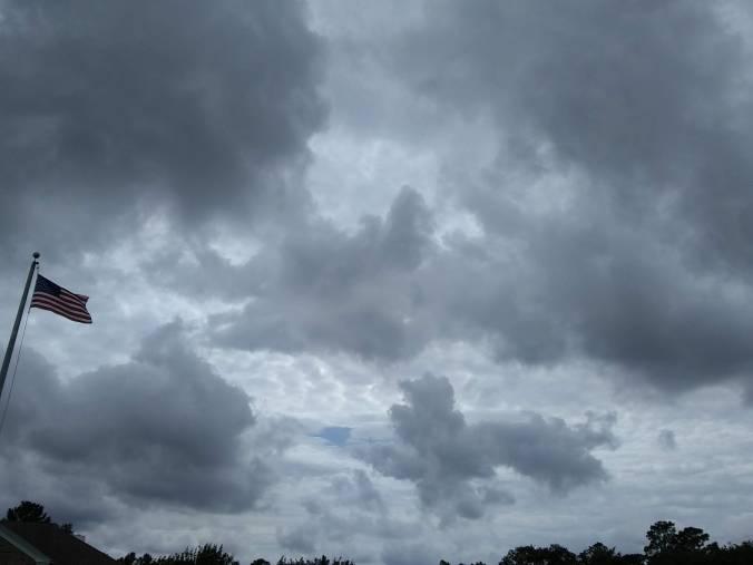 Grey skys May 2018 w flag